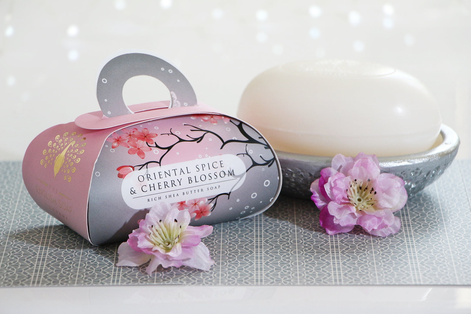 English Soap Company Luxury Bath Soap - Oriental Spice & Cherry Blossom
