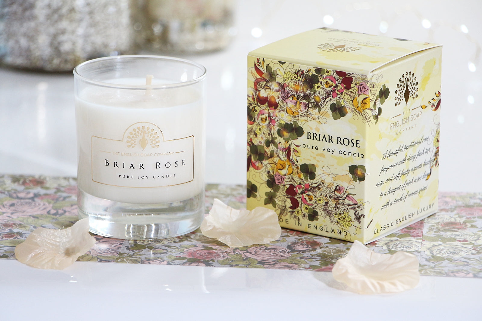 English Soap Company Soy Wax Candle - Briar Rose