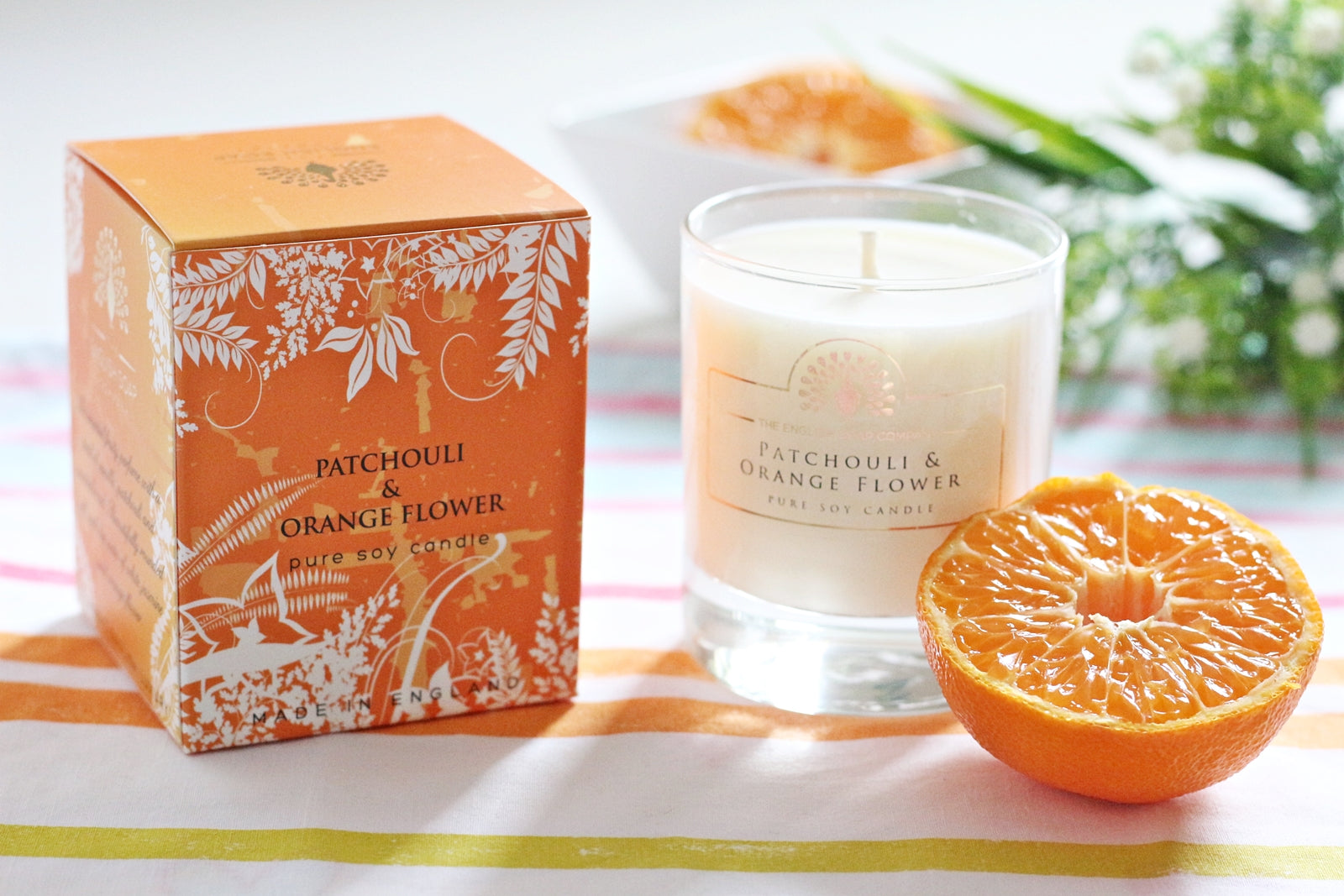 English Soap Company Soy Wax Candle - Patchouli & Orange