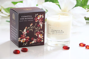 English Soap Company Soy Wax Candle - Clematis & Lime Blossom