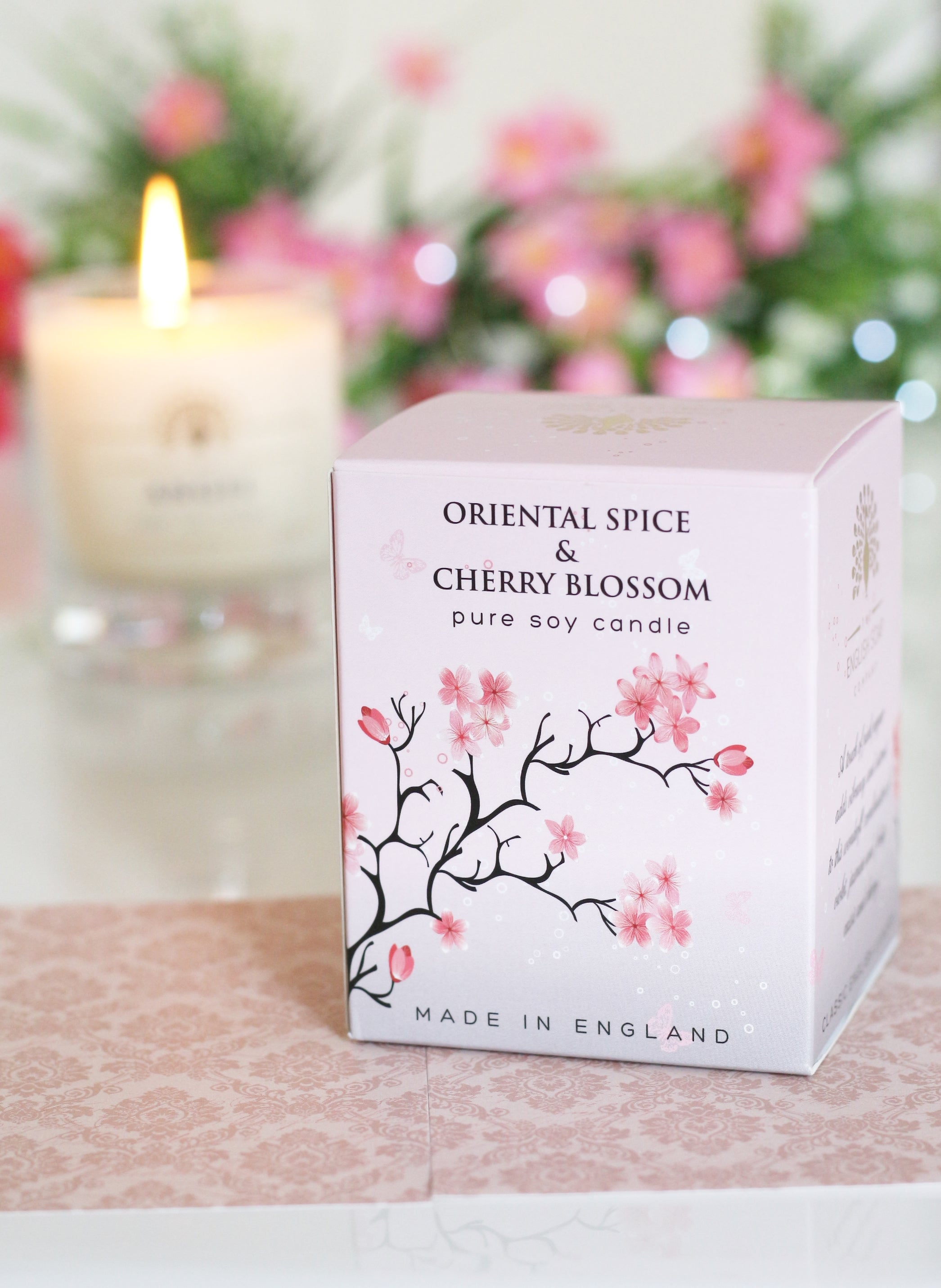 English Soap Company Soy Wax Candle - Oriental Spice & Cherry Blossom