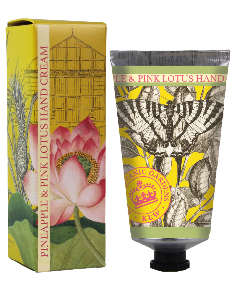 Kew Gardens Botanical -  Pineapple & Pink Lotus - Luxury Hand Cream
