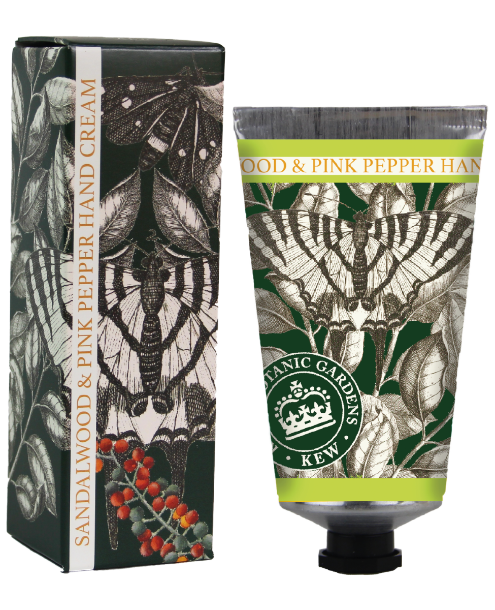 Kew Gardens Botanical -  Sandalwood & Pink Pepper - Luxury Hand Cream