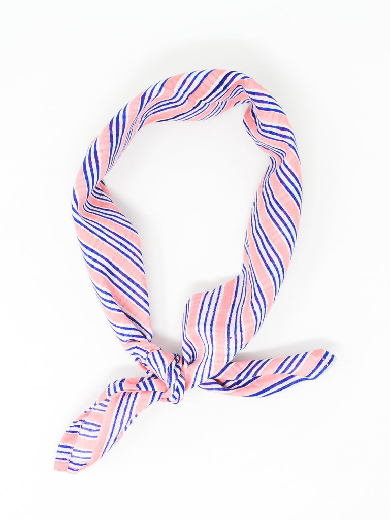 Blockprint Bandana #007 - Peach Bud