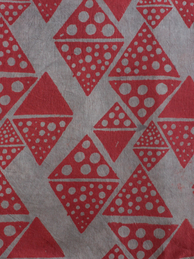 Blockprint Natural Dye Fabric #007 - Triangle Redwood