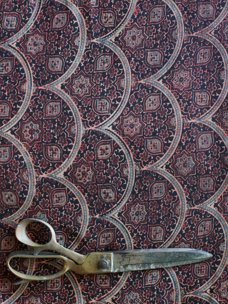 Blockprint Natural Dye Fabric #008 - Ajrakh Ochre