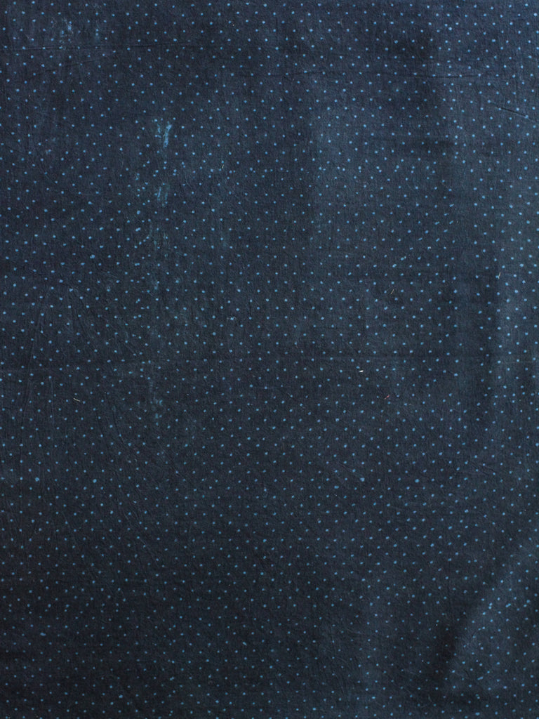 Blockprint Natural Dye Fabric #010 - Cobalt Dots