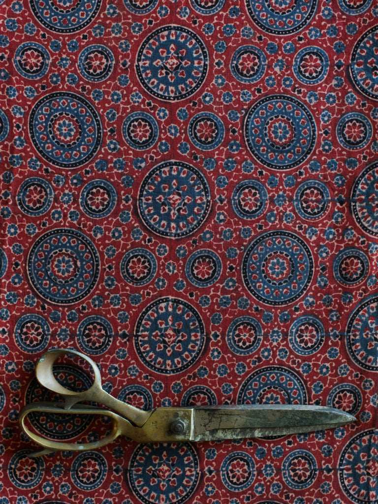 Blockprint Natural Dye Fabric #005 - Red Ajrakh