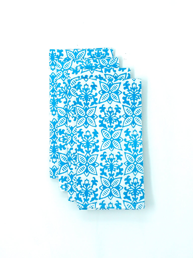 Blockprint Napkins - Hawaiian Surf