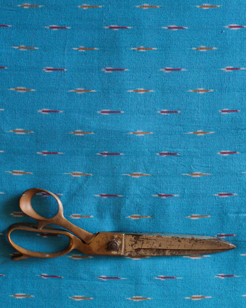Handloom Ikat Fabric #004 - Southwest Blue