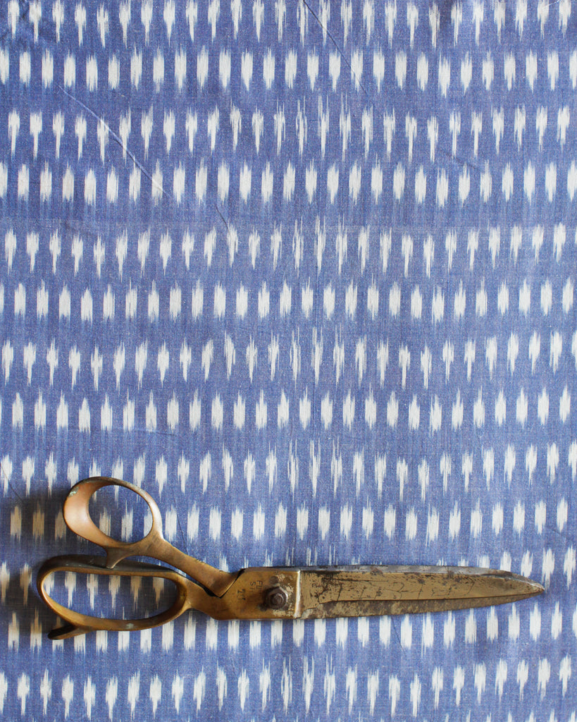 Handloom Ikat Fabric #011 - Air Blue