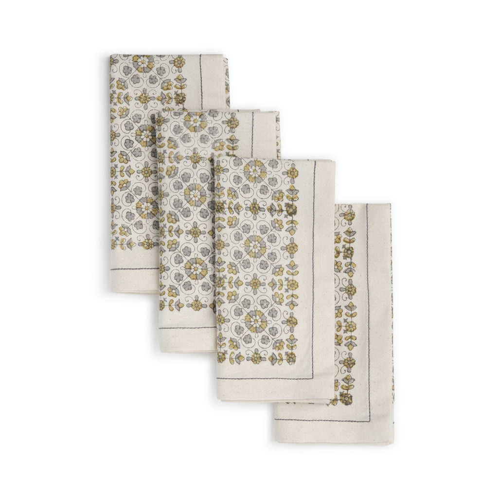LILY Napkin (set of 4) Hand Block Printed Cotton