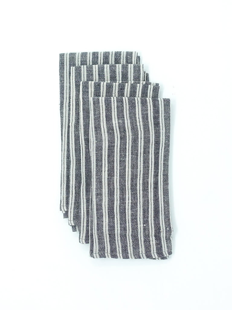 Organic Handloom Napkins - Striped Sandstone