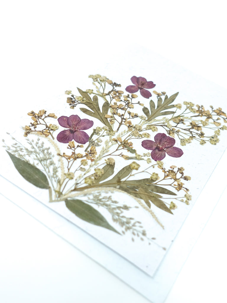 Bloom Pressed Flower Card - Anemone