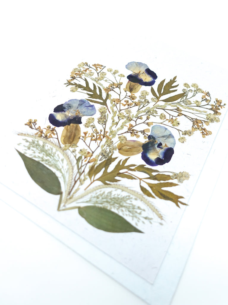 Bloom Pressed Flower Card - Iris