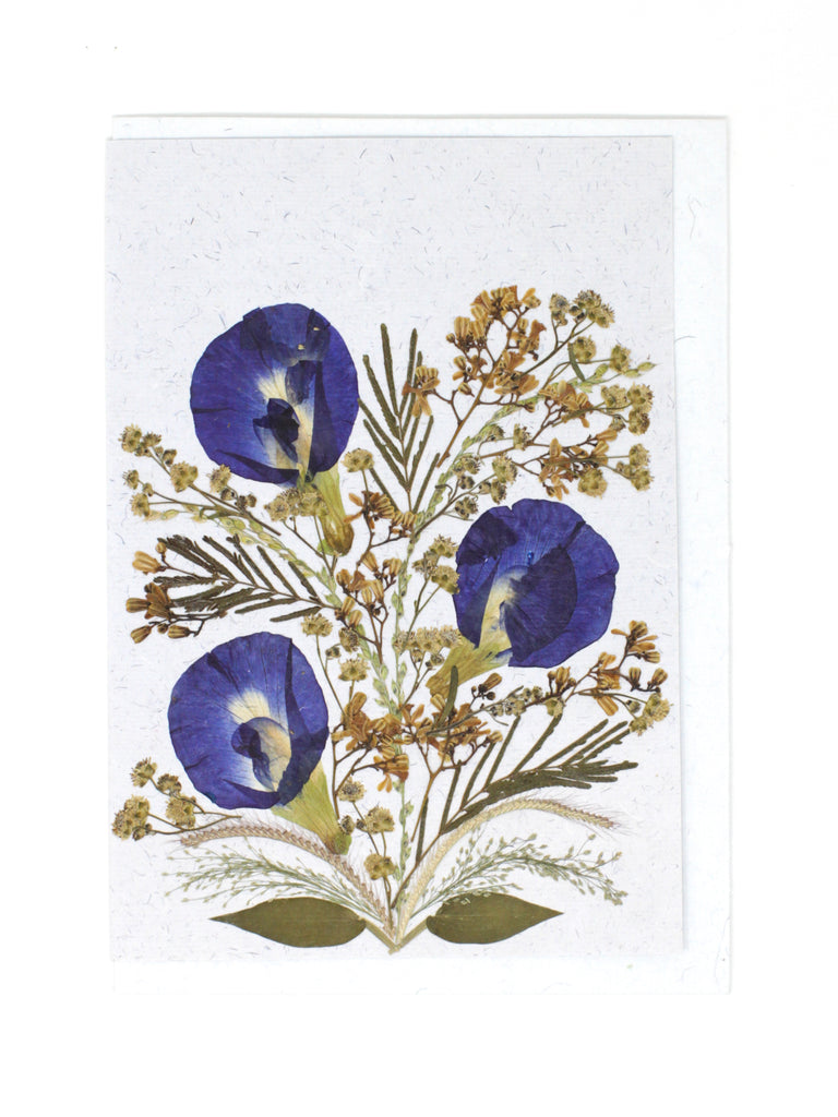 Bloom Pressed Flower Card - Periwinkle