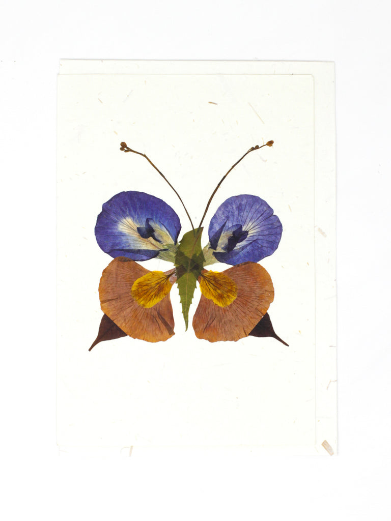 Pressed Flower Butterfly Card #1