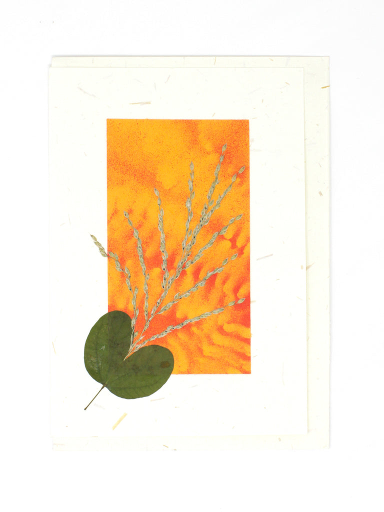 Elements Pressed Flower Card - Orangeade
