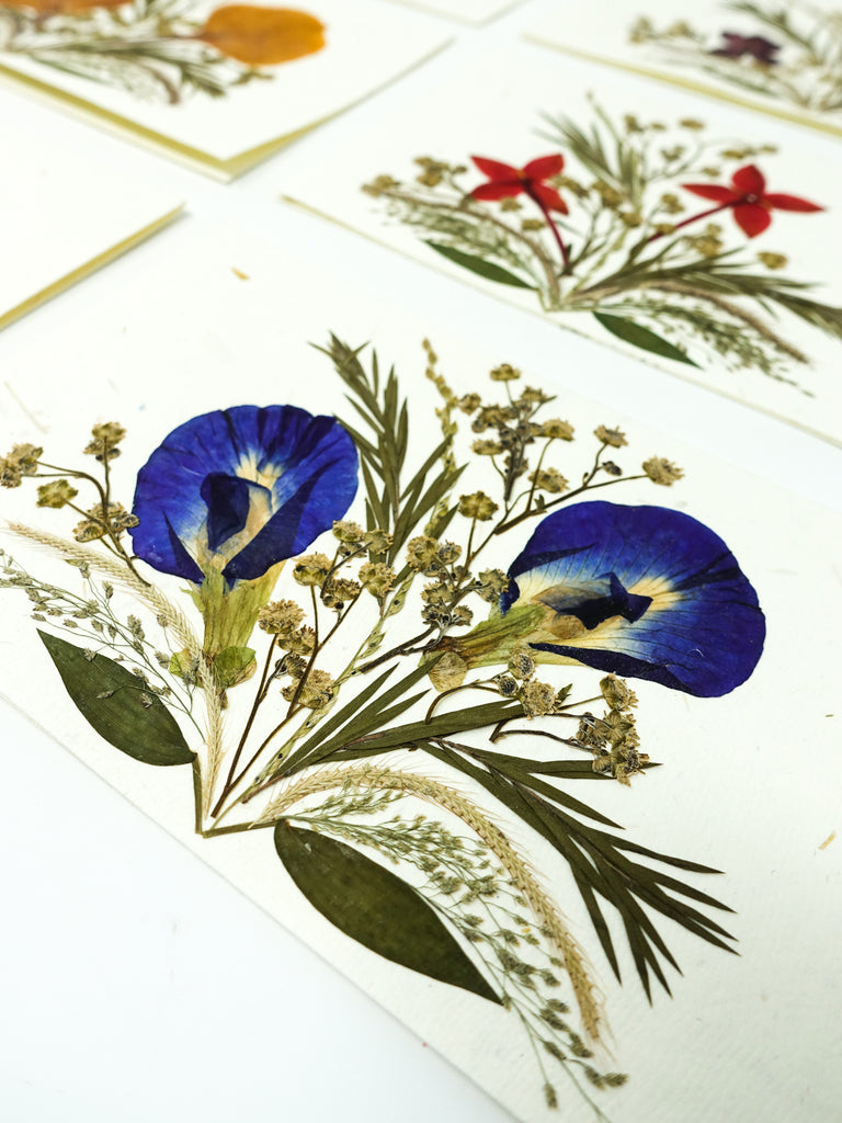 Set of 6 Pressed Flower Cards