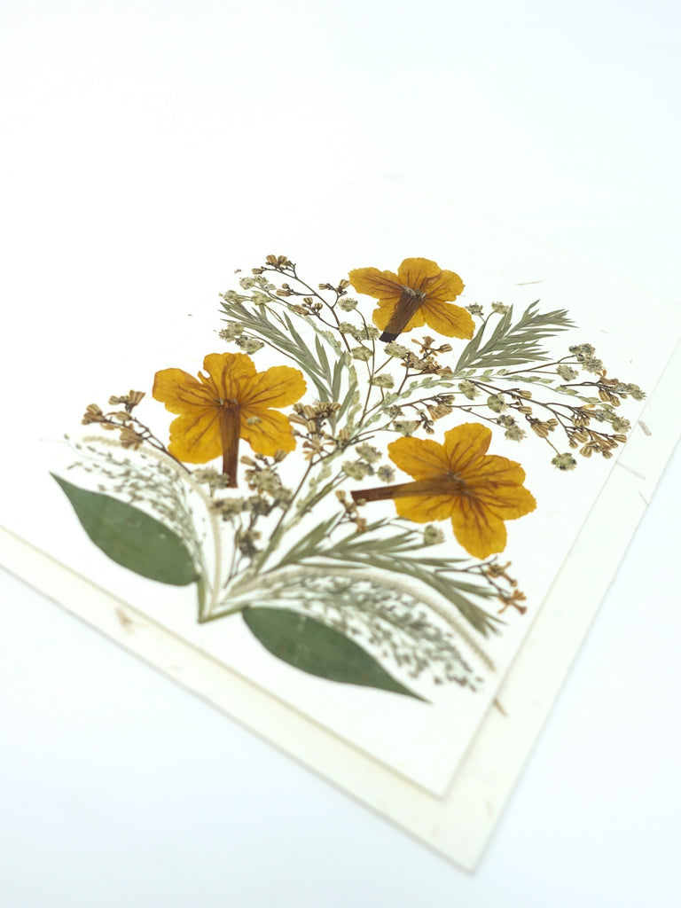 Bloom Pressed Flower Card - Freesia