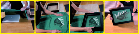 How to Frame a t shirt with a Shart tee shirt display frame, t shirt framing, tee shirt display, retail t shirt display