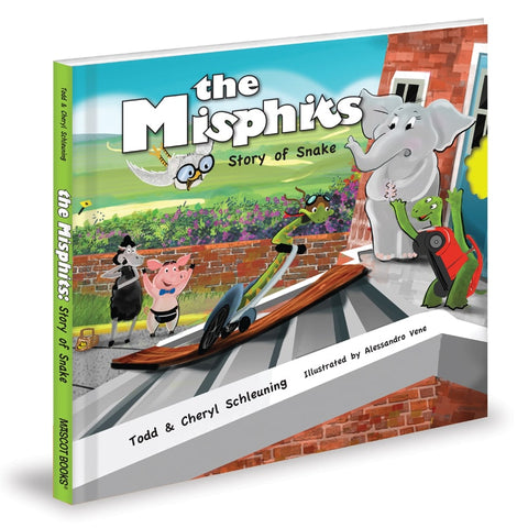 The Misphits: Story of Snake Children's Book by Kentucky Children's Authors Todd and Cheryl Schleuning, Elementary School lessons on diversity, empathy, disability, inclusion and overcoming adversity