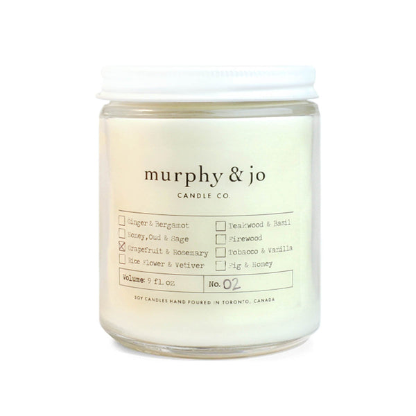 Grapefruit + Rosemary Soy Candle