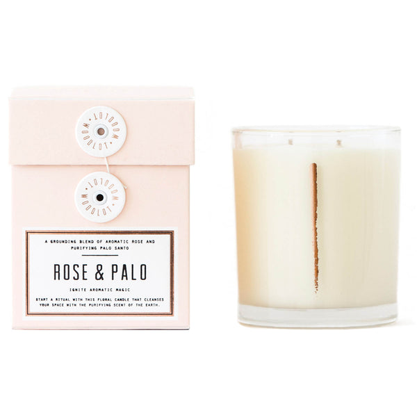 Rose + Palo Santo Candle