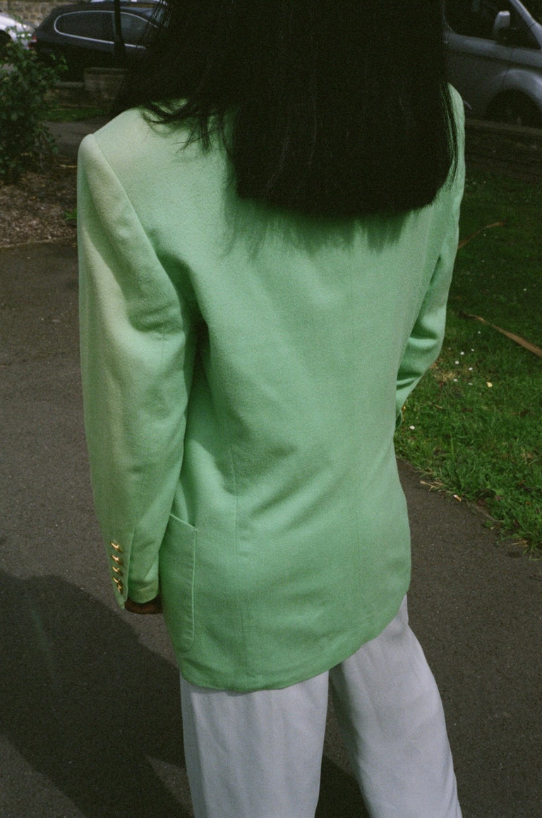 Vintage Escada Green Wool Blazer