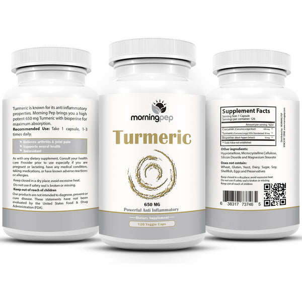 Turmeric Curcumin 650mg Supplement