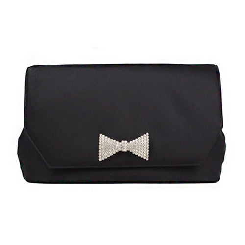 Black Clutch with Vintage Bow Tie