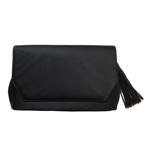 Black Clutch with Tassel