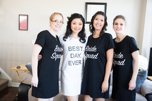 Prep Dress - Bride Squad in Black