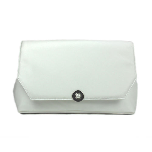 Ivory Clutch with Vintage Enamel/Pearl