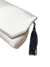 Ivory Clutch with Tassel
