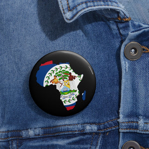 AFRICA-BELIZE Custom Pin Buttons