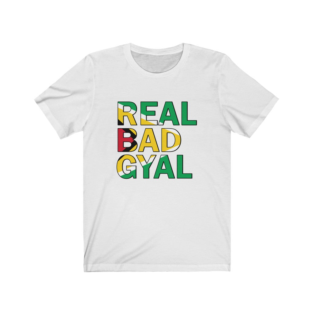 REAL BAD GYAL GUYANA Unisex Jersey Short Sleeve Tee
