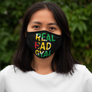 real bad gyal guyana Fitted Polyester Face Mask