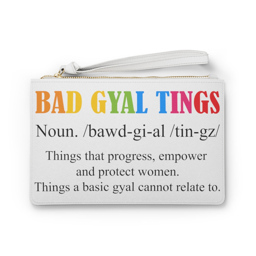 BAD GYAL TINGS DEFINITION Clutch Bag