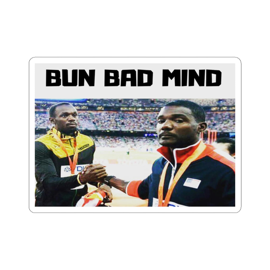 IF BAD MIND WAS A PERSON Kiss-Cut Stickers
