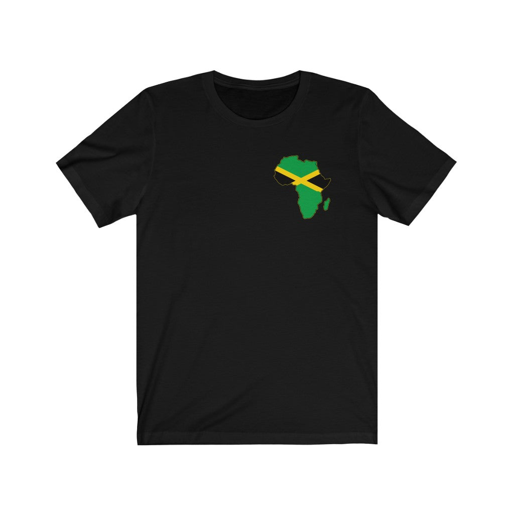 The ONE BLOOD JAMAICA  LEFT CHEST Unisex Short Sleeve Tee
