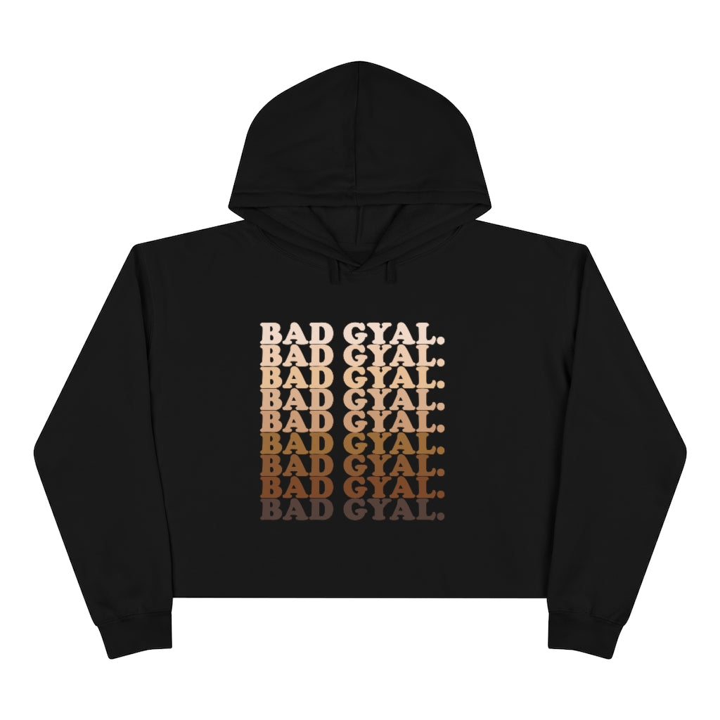 50 SHADES OF BAD GYAL Crop Hoodie