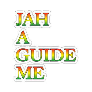 JAH A GUIDE ME Kiss-Cut Stickers