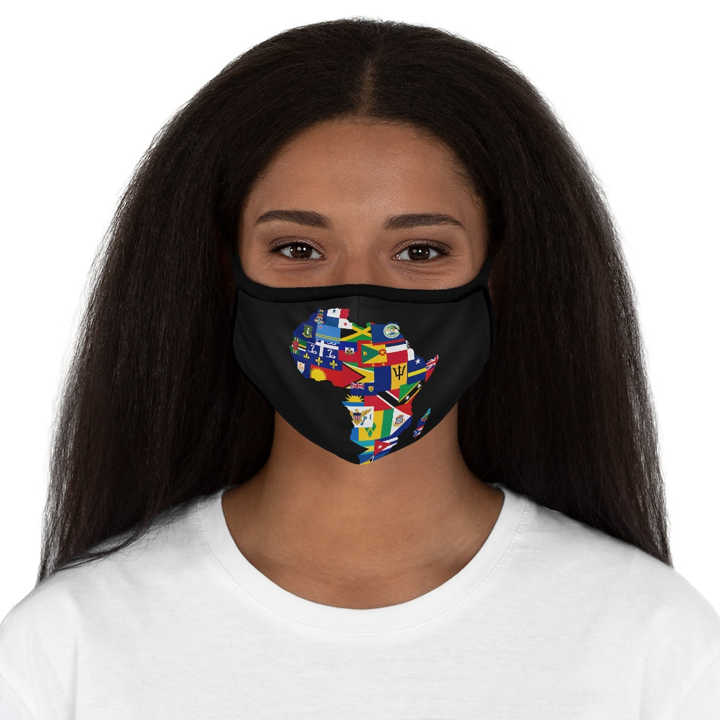 CARIBBEAN CONTINENT VERSION 2 Fitted Polyester Face Mask