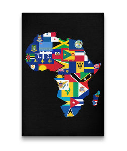 Caribbean Continent All Inclusive Canvas Art - Rice & Tees