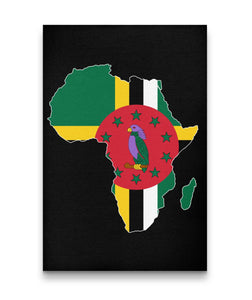 CARIBBEAN CONTINENT DOMINICA CANVAS ART - Rice & Tees