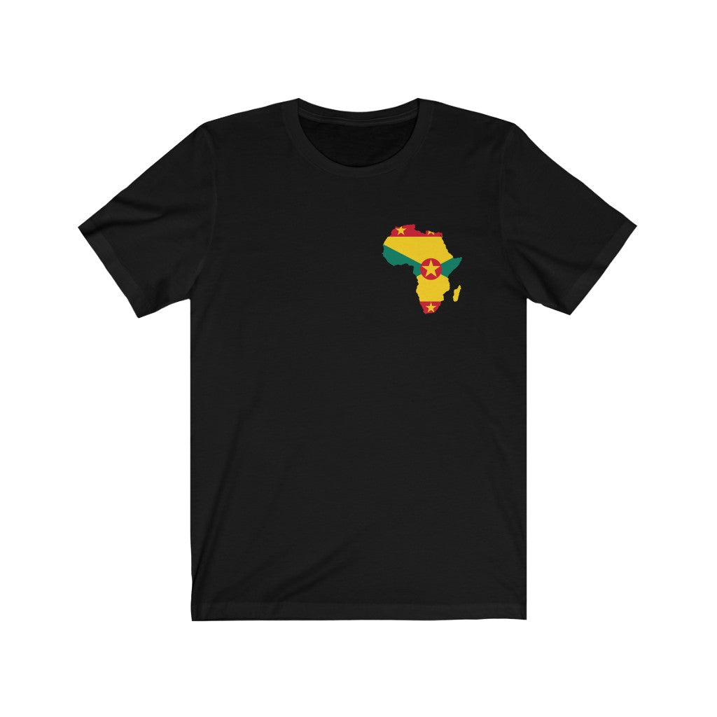Africa Grenada Left Chest Unisex Jersey Short Sleeve Tee