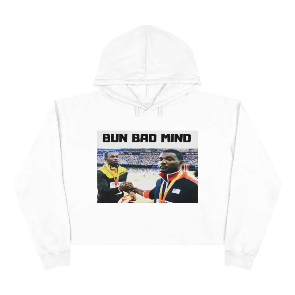 IF BAD MIND WAS A PERSON Crop Hoodie