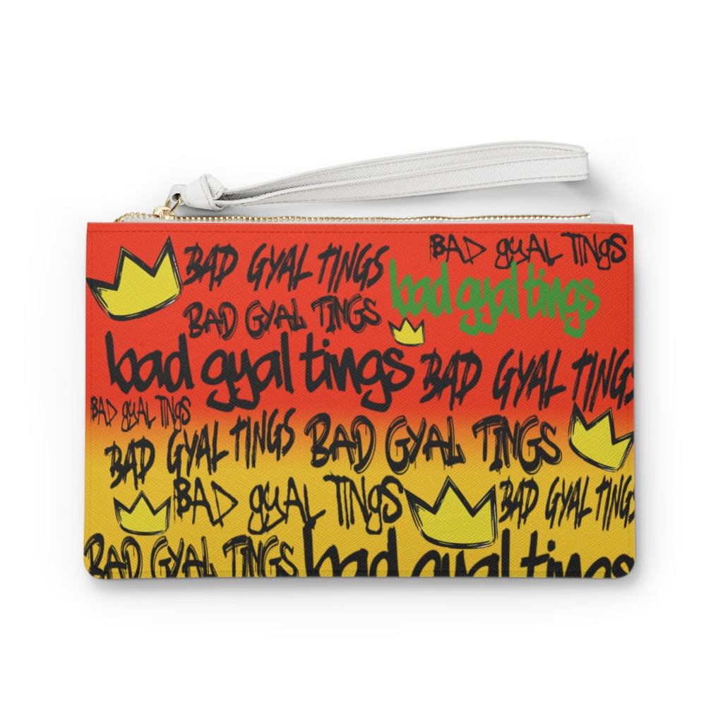 BAD GYAL TINGS Clutch Bag (Red, Gold, and Green)