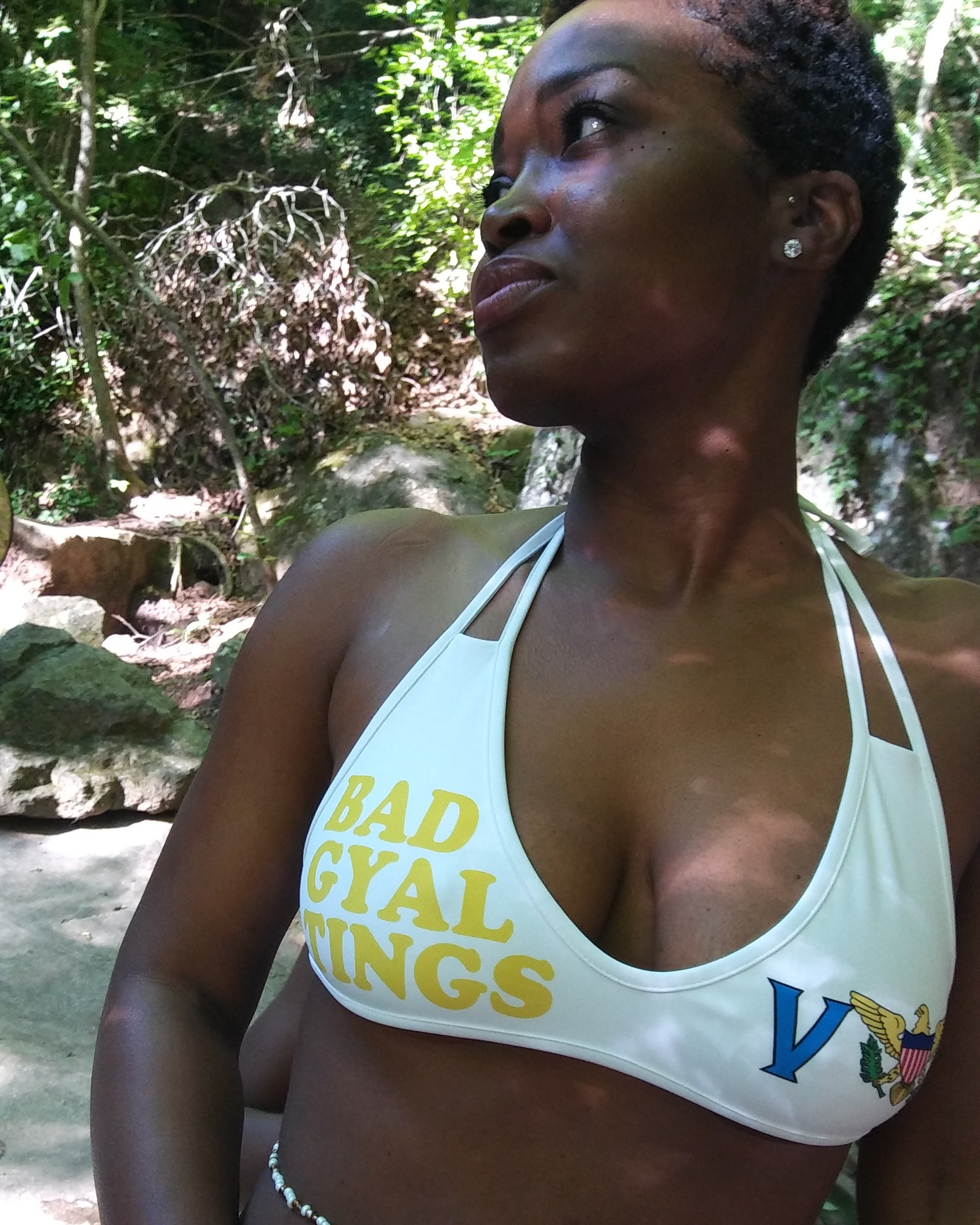 VI Bad Gyal Tings Bikini Top - Rice & Tees